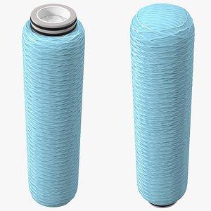 3D Wound Polypropylene Wire Filter Cartridge Blue model
