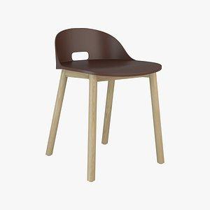 3D Emeco Alfi Chair Low Back model