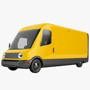 Generic Electric Delivery Van 02 3D