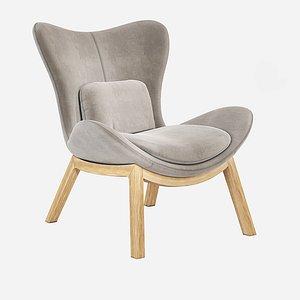 lazy armchair 3D model