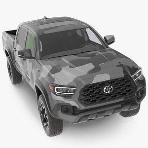 3D Toyota Tacoma TRD Off Road Gray Camouflage 2021 model