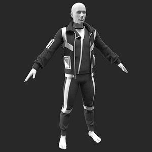 3D Male Outfit Marvelous Designer Clo3d project