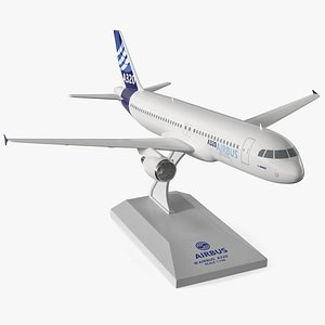 3D Airbus A320 Scale Model with Stand model