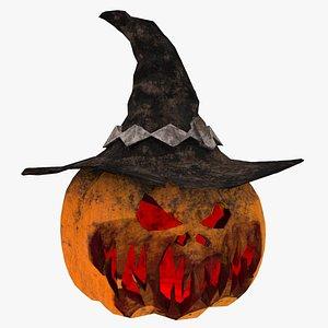 Halloween Pumpkin Low-poly 3D model model
