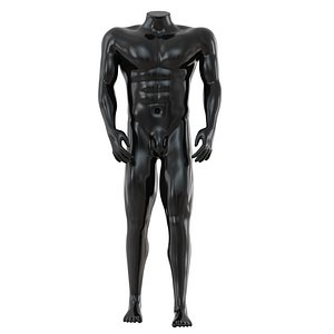 3D headless sports mannequin 80 model