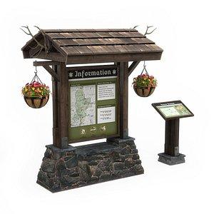information boards 3D model