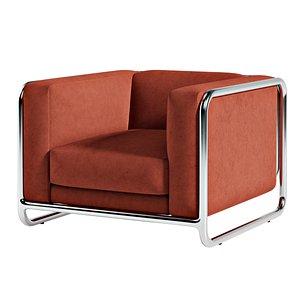 upholstered chair design seat 3D model