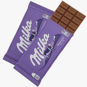 3D milka chocolate bar model