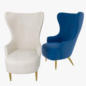 3D chair velvet