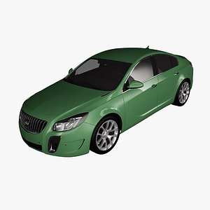 3D model buick regal 2012