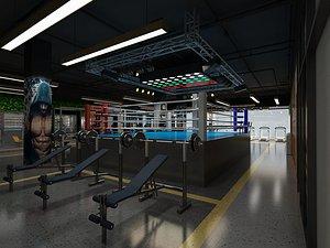 Gym, Air Mold Gym, Taekwondo Fitness, Beauty, Body Training, Weightlifting, Treadmill, Fitness Equip 3D