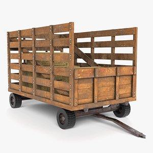 hay wagon 3D model