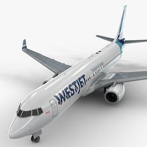 boeing 737-8 westjet 3D model