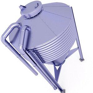 3D Small Grain Silo 32 model