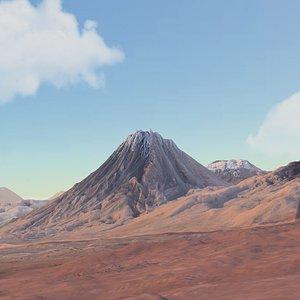 3D mountain landscape volcano