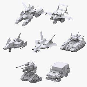 3D gundam vehicle