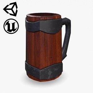 3D Fantasy Wooden Beer Mug