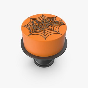 Halloween Cake with Decor Topper 3D model