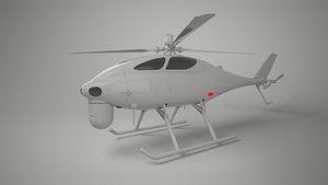 3D model drone helicopter uav