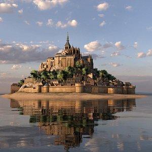 3D Mont Saint Michel model