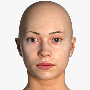 real pbr freya human head 3D model