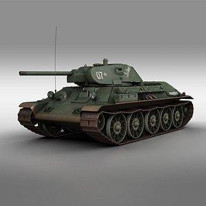 3D t-34 t-34-76 soviet