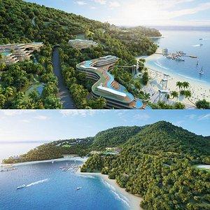 3D island land
