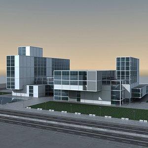 Modern Building 138 Scene 3D model