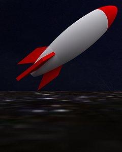 rocket print 3D model