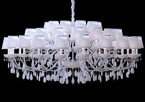 3D chandelier lamp lights model