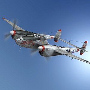 lockheed lightning - pudgy 3D