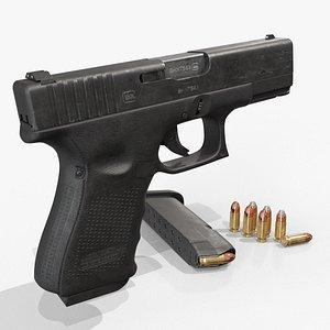 Glock 19 remastered 3D