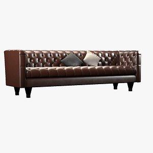 3D model modern chesterfield sofa