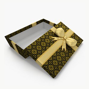 Gift Box Open Black 3D model