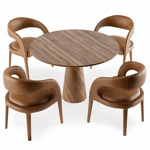 3D dining table chair