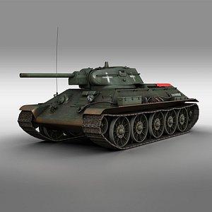 T-34-76 - Model 1942 - Soviet tank in Italian Service 3D