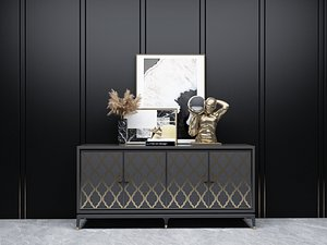 Modern Style Console - 033 A 3D