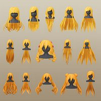 Character - Anime Girl Long Hairs Collection