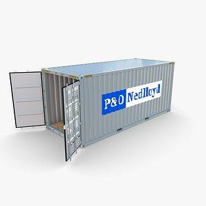 3D 20ft Shipping Container PO Nedlloyd v2