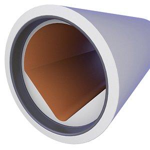 3D Precast Concrete Sewage Pipe 21 model