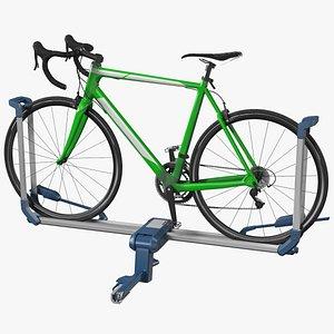 Bike Rack Aluminum Platform with Road Bike 3D