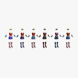 3D 06 Wonder Woman Outfit - Character Design Fashion