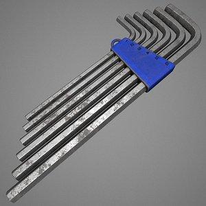 allen keys 3D model