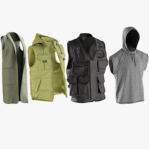 realistic vests s collections 3D model