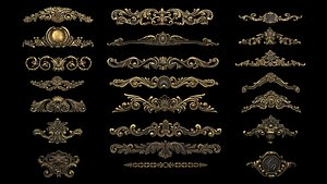 3D model Collection of Classical ornaments