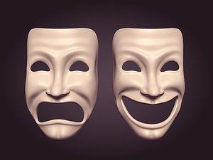 3D Theater Masks