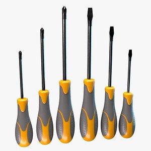 3D modern screwdriver model