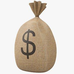 Money Bag v1 Dollar with Pbr 4K 8K 3D model