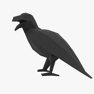 3D model Crow Papercraft