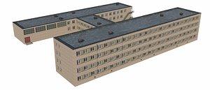 school soviet type 3D model